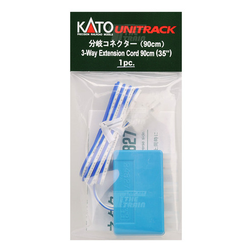 KATO 24-827 3-Way Extension Cord 90cm (blue / white) 1pc