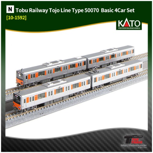 KATO 10-1592 Tobu Railway Tojo Line Type 50070 Standard Basic 4Car Set