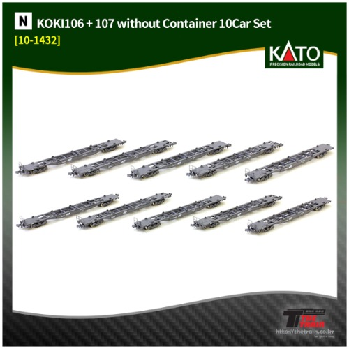 KATO 10-1432 KOKI106 + 107 without Container 10Car Set