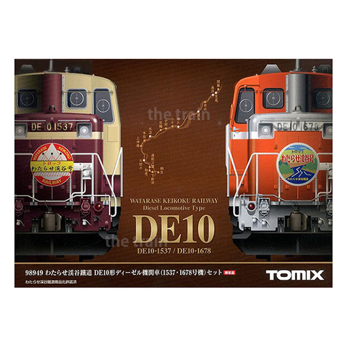 TM98949 Watarase Keikoku Railway Type DE10 Diesel Locomotive (#1537/#1678) 2Car Set