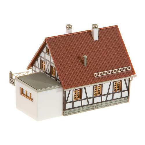 FA232215 Timbered house with garage