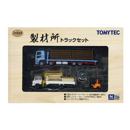 TM307877 Truck Collection Sawmill Truck 3Cars Set