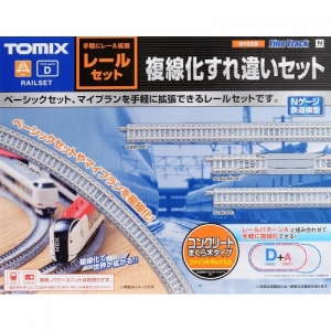 TM91028 FINE TRACK Rail Set Double-Track Passing Set (Track Layout D)