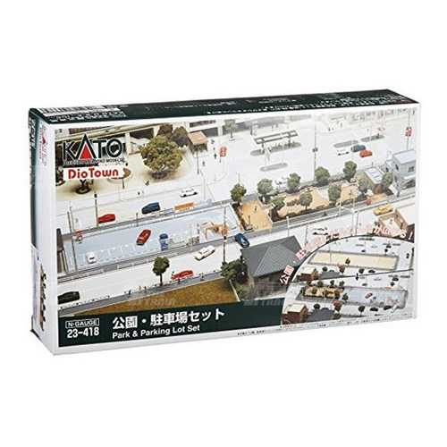 KATO 23-418 DioTown Park & Parking Lot Set