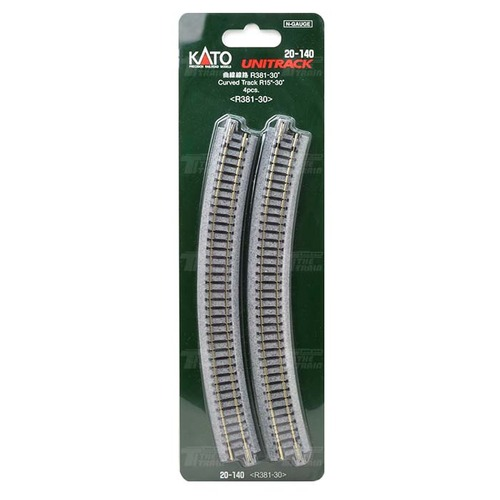 KATO 20-140 Curved Track R381-30 (R15-30 degree) 4pcs