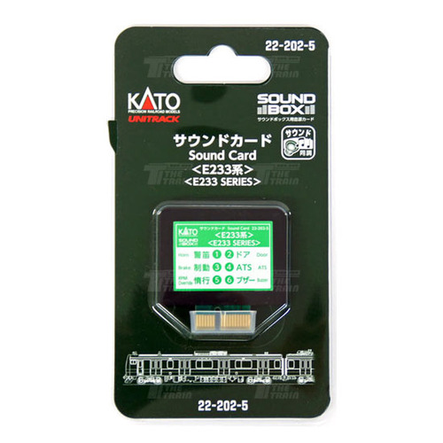KATO 22-202-5 Sound Card Series E233 [for Sound Box]