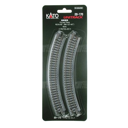 KATO 20-170 Curved Track R216-45 degree < R216-45 > 4pcs