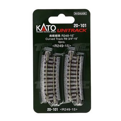 KATO 20-101 Curved Track R249-15 degree < R249-15 > 4pcs