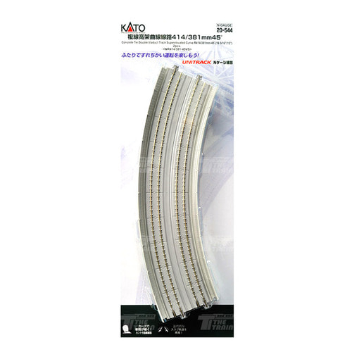 KATO 20-544 Double Viaduct Track Superelevated Curve R414/381mm-45