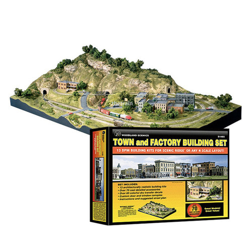 S1485 Town and Factory Building Set (N Scale)