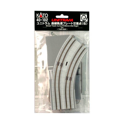 KATO 40-102 Unitram Street Track Curved Plate R180mm-45 Right