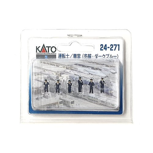 KATO 24-271 Motorman/Conductor (Winter Clothes/Dark Blue)