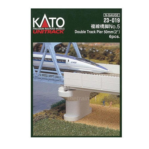 KATO 23-019 Unitrack Double Track Pier 50mm 6pcs.