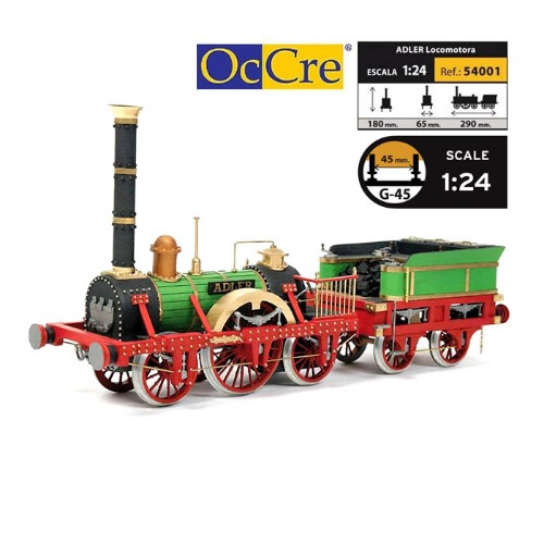 OCCRE 54001 1/24 ADLER Locomotive 1:24 Scale Model Kit