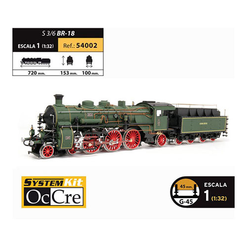 OCCRE 54002 1/32 BR-18 steam locomotive