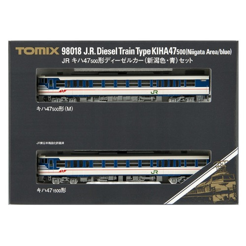 TM98018 J.R. Diesel Train Type KIHA47-500 (Niigata Area/Blue) 2Car Set