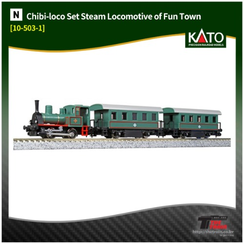 KATO 10-503-1 Chibi-loco Set Steam Locomotive of Fun Town