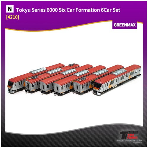 GM4210 Tokyu Series 6000 Six Car Formation (w/Motor) 6Car Set [중고]