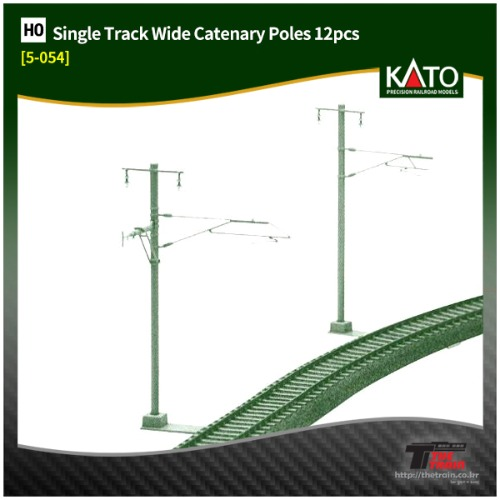 KATO 5-054 Unitrack Single Track Wide Catenary Poles 12pcs