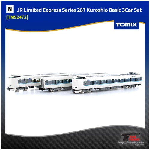 TM92472 J.R. Limited Express Series 287 `Kuroshio` Basic A 3Car Set