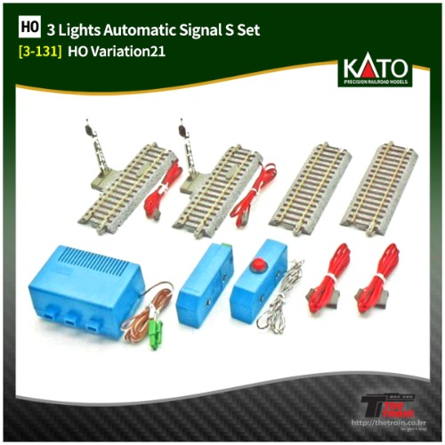 KATO 3-131 HV21 3Lights Automatic Signal S Set