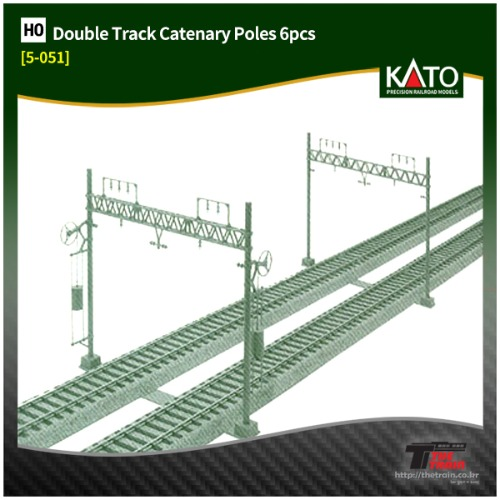 KATO 5-051 Unitrack Double Track Catenary Poles 6pcs
