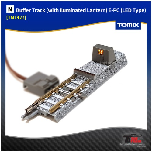 TM1427 Buffer Track (with Iluminated Lantern) E-PC (LED Type) 1Pcs