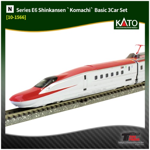 KATO 10-1566 Series E6 Shinkansen `Komachi` Basic 3Car Set