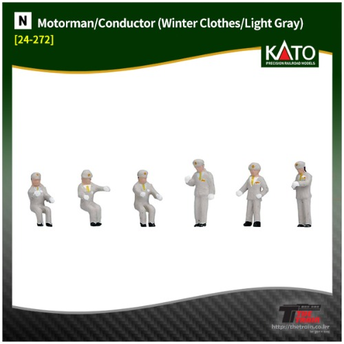 KATO 24-272 Motorman/Conductor (Winter Clothes/Light Gray)