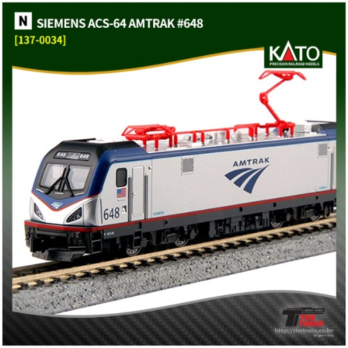 KATO 137-3003 SIEMENS ACS-64 AMTRAK #648