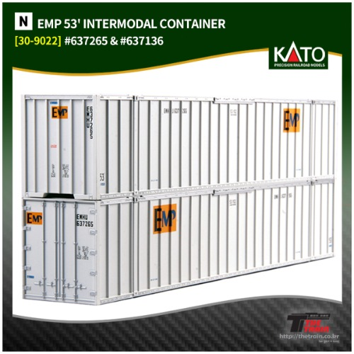 KATO 30-9022 EMP 53' INTERMODAL CONTAINER 2Pcs