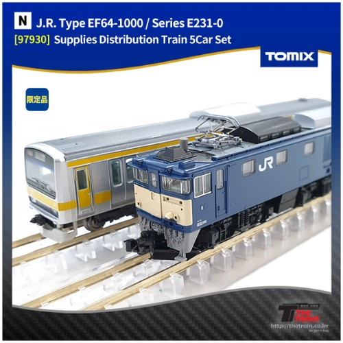 TM97930 J.R. Type EF64-1000 / Series E231-0 Supplies Distribution Train 5Car Set