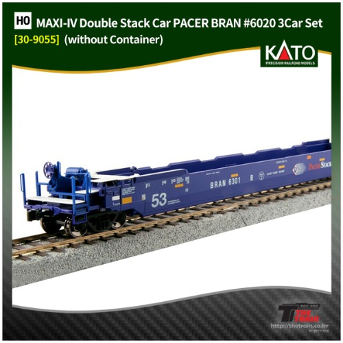 KATO 30-9055 MAXI-IV Double Stack Car PACER BRAN #6020 3Car Set