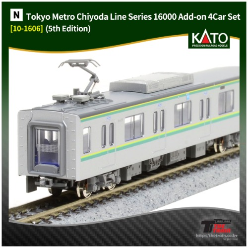 KATO 10-1606 Tokyo Metro Chiyoda Line Series 16000 (5th Edition) Add-on 4Car Set
