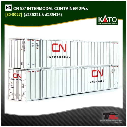KATO 30-9027 CN 53' INTERMODAL CONTAINER 2Pcs