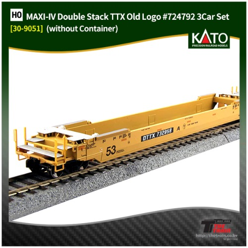 KATO 30-9051 MAXI-IV Double Stack Car TTX Old Logo #724792 3Car Set