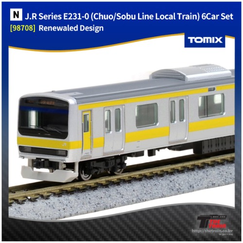 TM98708 J.R Series E231-0 (Chuo/Sobu Line Local Train) 6Car Set