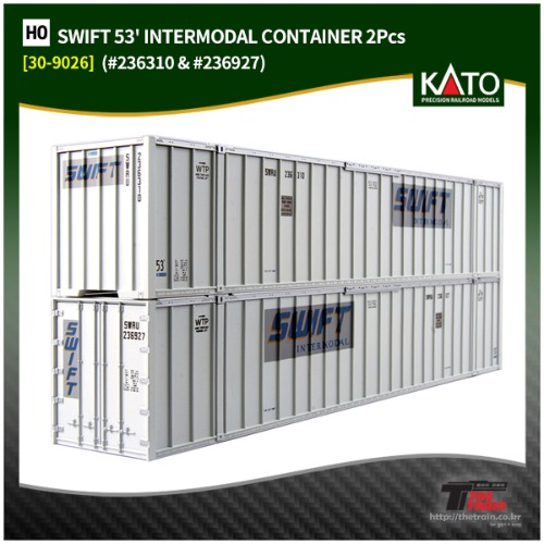 KATO 30-9026 SWIFT 53' INTERMODAL CONTAINER 2Pcs