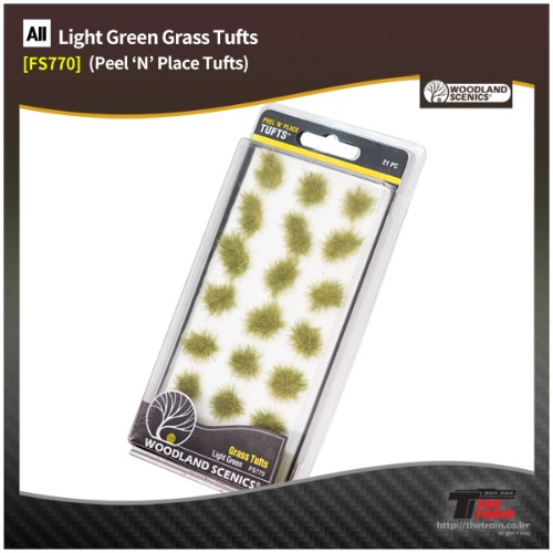 FS770 Light Green Grass Tufts