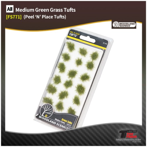 FS771 Medium Green Grass Tufts