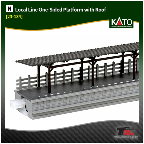 KATO 23-134 Local Line One-Sided Platform with Roof
