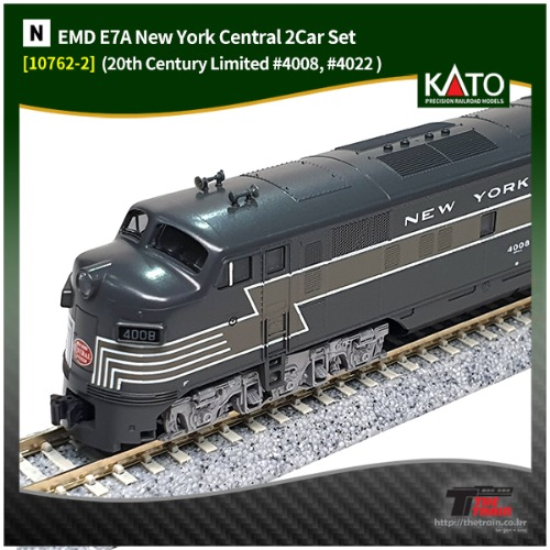 KATO 10762-2P EMD E7A New York Central '20th Century Limited' 6Car Set